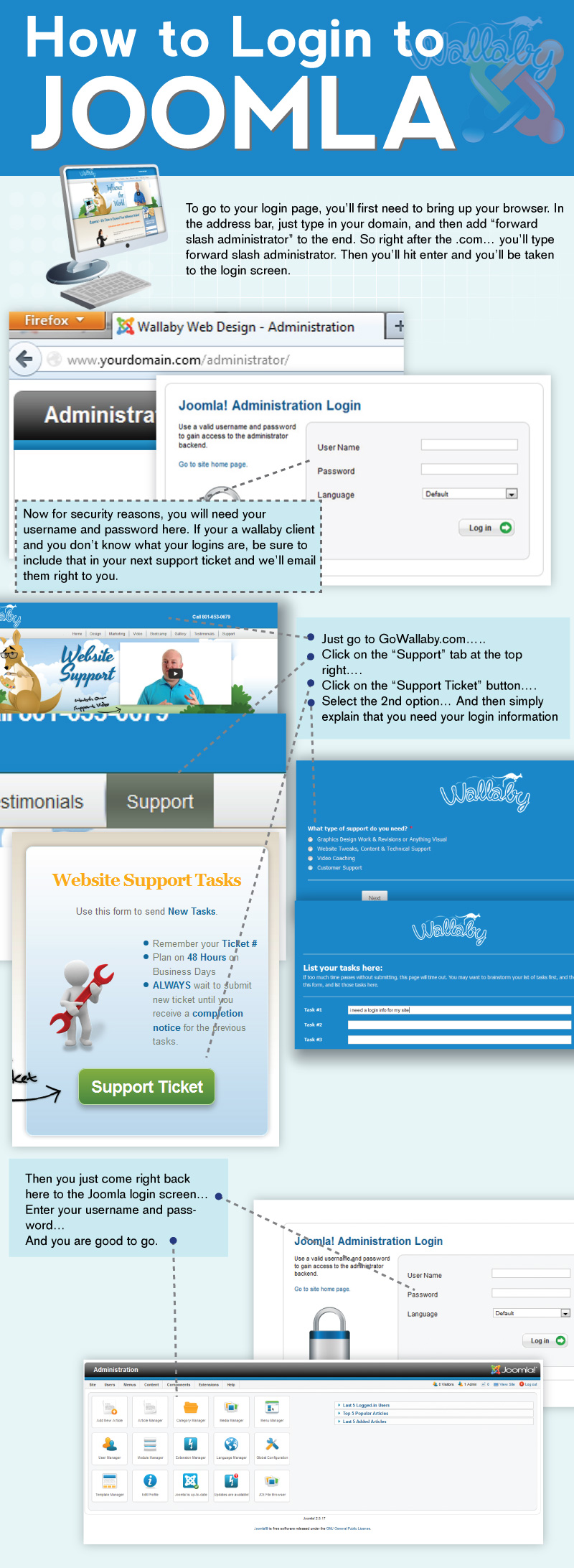 How to Login to Joomla | Go Wallaby