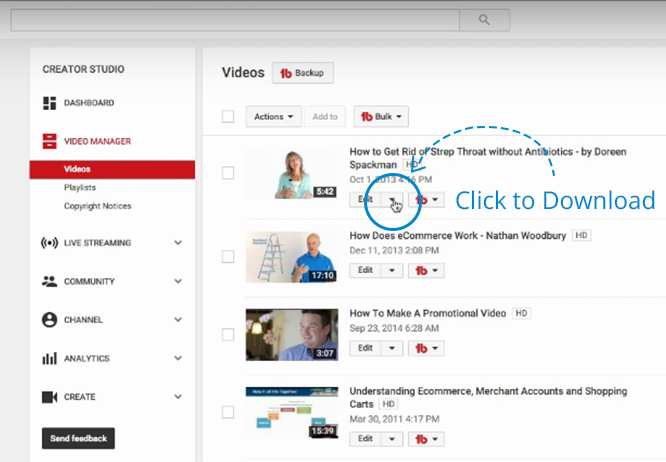 How to download youtube videos go wallaby clicking on that will allow you to download the whole file back to your computer youtube account video ccuart Images